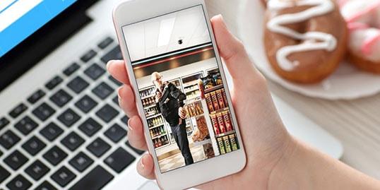 Symbolbild Videoüberwachung Smartphone