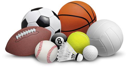 Abbildung von unterschiedlichen Sportbällen