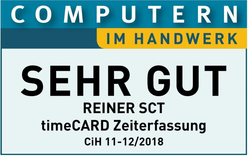 Computern im Handwer Sehr gut Bewertung für Zeiterfassung timeCard